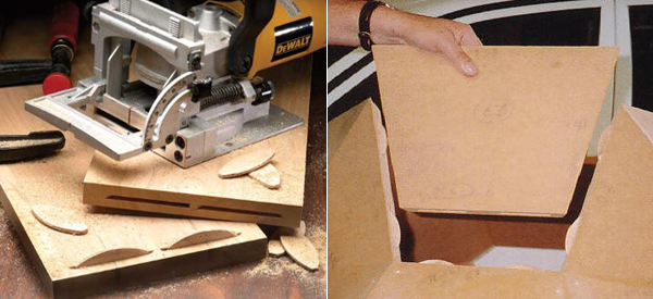 Wood joint biscuit cutter