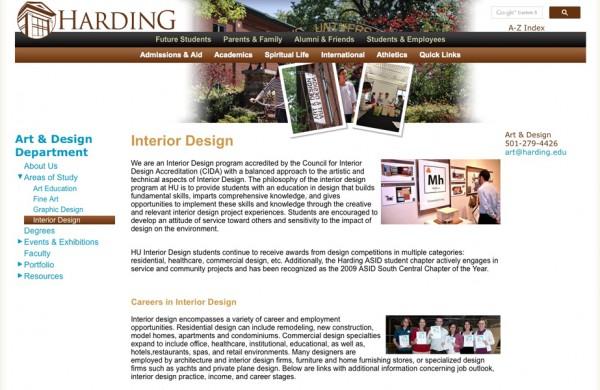 Harding University Interior Design