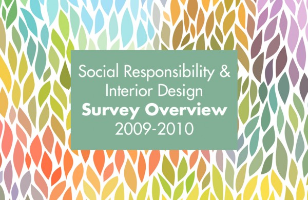 Social Responsibility and Interior Design - Survey Results 2009-2010