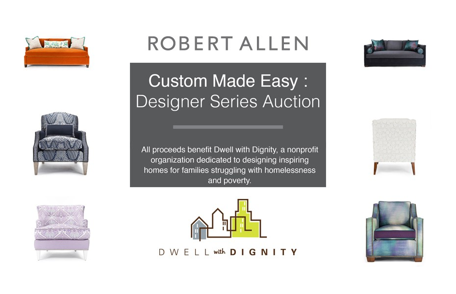 Robert Allen Designer Series Auction Benefitting Dwell with Dignity