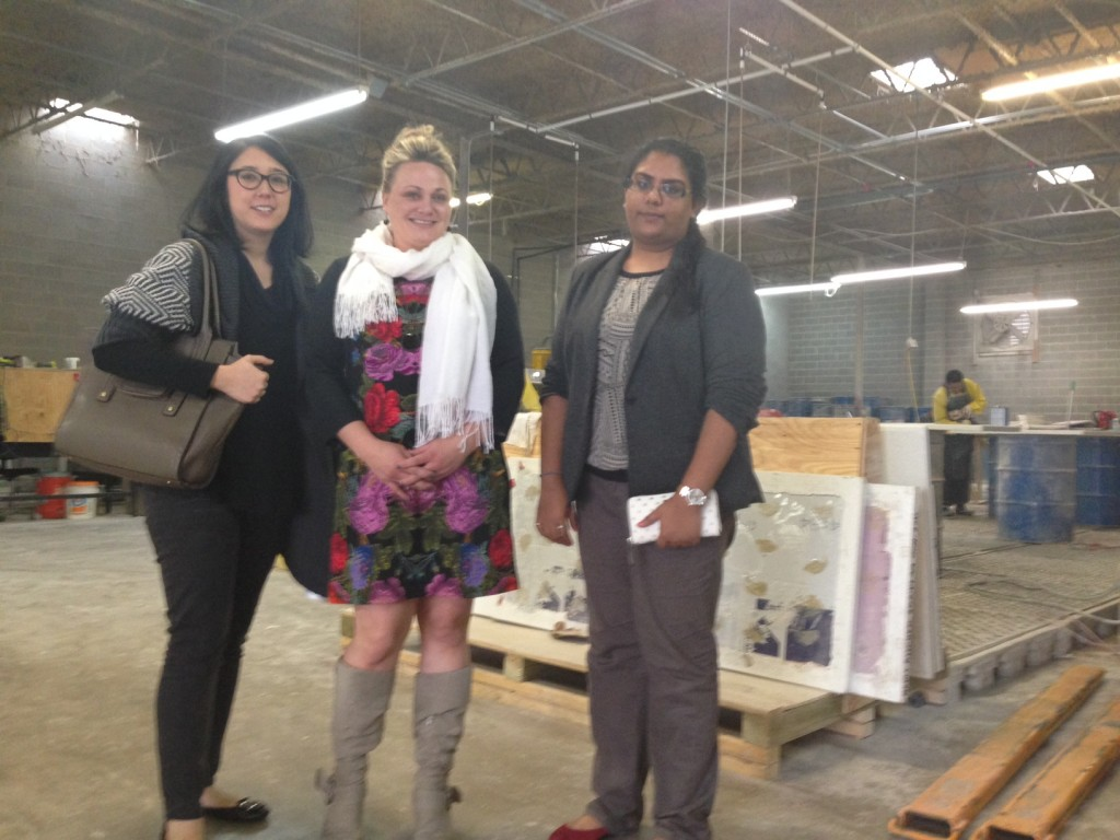 Student Mentoring: Sustainable Surfaces at Glass Recycled
