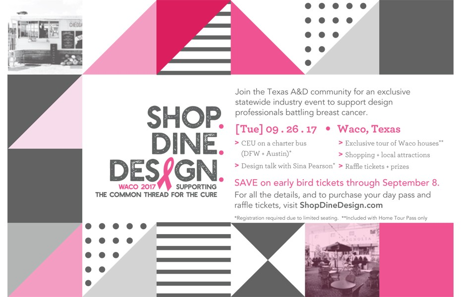 Shop Dine Design Supporting The Common Thread for the Cure