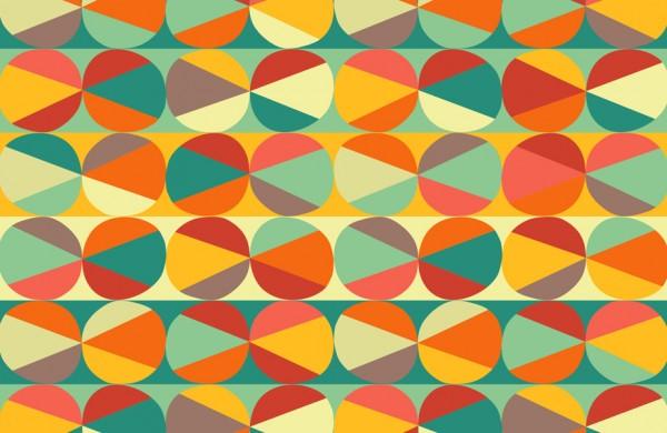 geometric pattern circles triangles
