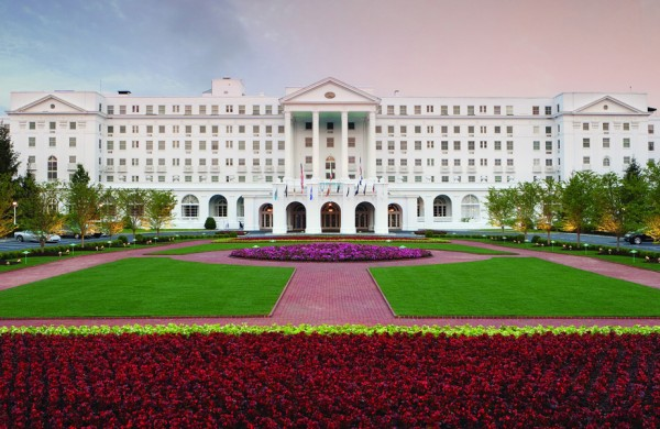 The Greenbrier - Front Entrance (photo courtesy of Greenbrier Spa)