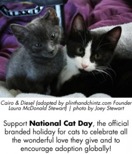 National Cat Day - plinthandchintz.com