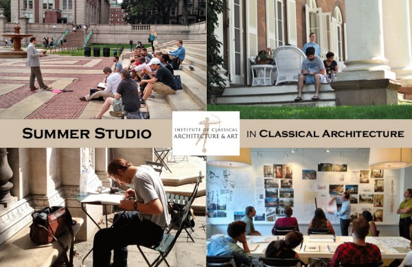 ICAA Summer Studio in Classical Architecture